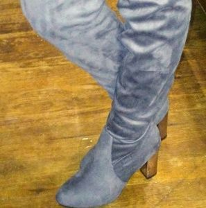 Hot Kiss over the knee grey boot Size 10